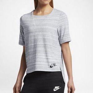 Nike Advance 15 Knit Top T-shirt Gray M Striped